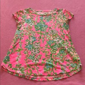 Lily Pulitzer Pink Floral Top Size XXS